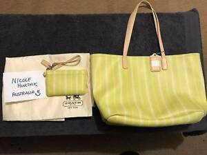 Coach Legacy Tote Bag (used) & Coach Legacy Wristlet (new). Campbelltown Campbelltown Area Preview