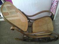 Old style rocking chair great to upcycle for nursery or conservatory.