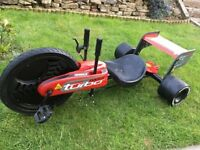 Turbo twist 360 go kart in red very good condition