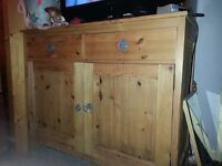 SOLID WOOD PINE, CHEST OF DRAWERS,length 110cm, height 90cm, depth 46cm