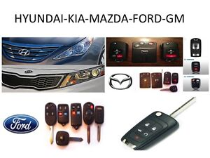 HYUNDAI - KIA - MAZDA - FORD – GM KEY CUTTING & PROGRAMMING