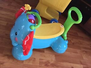 Elephant riding/push toy perfect condition