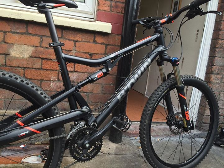 B Twin Rock Rider 520s Full Suspension 2015 Large Frame