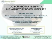 DO YOU KNOW A TEEN WITH INFLAMMATORY BOWEL DISEASE?