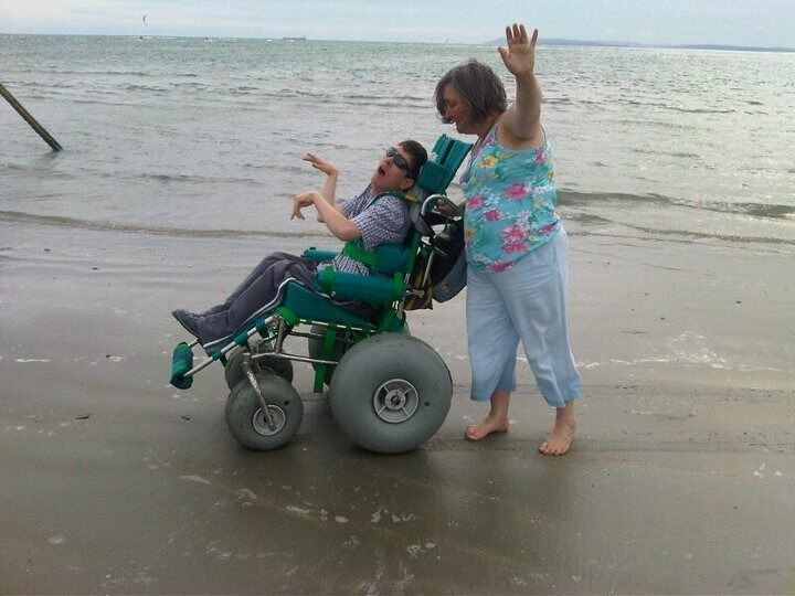 Landeez All Terrain Wheelchair Perfect For The Beach Woodland Walks Or In Snow