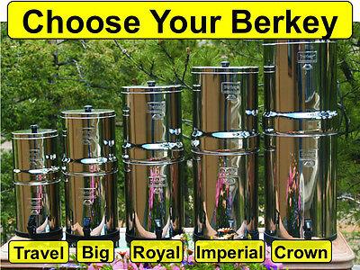 Berkey Water Filter System - Big Crown Royal Imperial Light Travel Fluoride PF-2