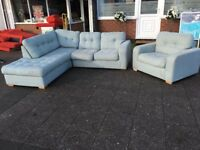 HARVEYS BRAND NEW EX - DISPLAY CORNER SOFA BED WITH STORAGE & ARMCHAIR NEW WITH TAGS CAN DELIVER