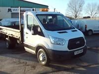 Ford Transit T350 Single Cab Tipper 100ps New Shape DIESEL MANUAL WHITE (2014)