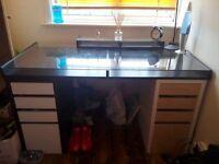 Nice desk and wardrobe