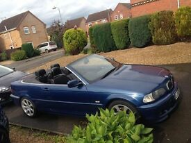 bmw e46 convertible 320 not 323 325 330 manual 3 series long mot m sport bumpers and black leather