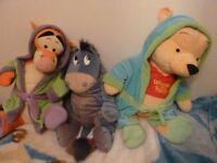3 large winnie the pooh teddies