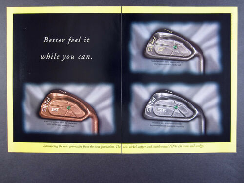 1996 Ping ISI Irons Copper Nickel & Steel golf clubs vintage print Ad