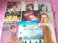 MIX OF 10 VINYLS - HOUSEHOLD NAMES - INC DIANA ROSS, FOUR TOPS, CONNIE FRANCIS, SINATRA, CARPENTERS