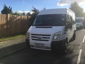 Ford Transit 17 Seater Minibus £5495!! LONG PSV TEST AND COIFED!!