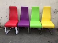New Retro dining chairs A set of 4 retro dining chairs excellent condition deliver for free local