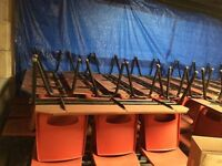 200 CHAIRS FOR SALE SETS OF 3 AND 2 CONNECTED AND STACKABLE