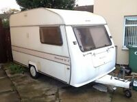 Silvercrest Silverline 12/2 Caravan - Rare Lightweight 2/3 Berth Towable with Fiesta or Classic Car