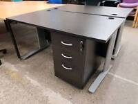 Black Ash Office Desks With matching pedestals for £15 priced each