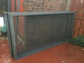 steel mesh panels gas cage dog kneels scrap trucks etc