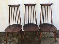 x3 Ercol Goldsmith chairs