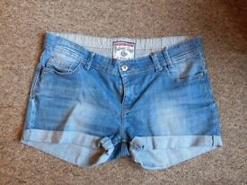 NEXT and H&M short shorts, 2 for 1, both size 14, very good condition.