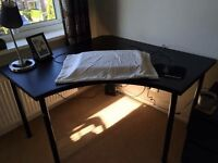 Black Corner Ikea Desk. Dismantled and Ready for Collection
