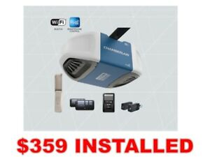Chamberlain 3/4HP Belt Drive Garage Door Opener WiFi *INSTALLED*