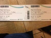 2 Tickets for the killers in Birmingham