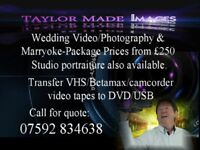 Wedding video/photography & Marryoke. Also transfer VHS/Betamax/camcorder video tapes to DVD or USB