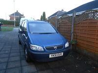 Vauxhall Zafira 1.8 petrol low mileage
