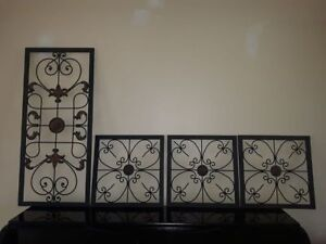 Gorgeous 4 piece metal wall decor. All separate pieces. The poss