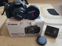 Canon kiss x5 (600d) DSLR camera with 2 lenses (Collection either from Bolton or Lancaster)