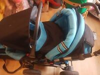 lush boys car seat carry cot pushchair