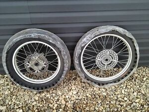 XR650R wheels and ice racing tires