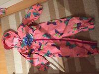 Brand new 12-18m waterproof suit