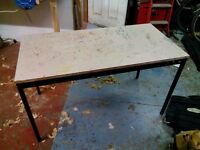 sturdy table workbench school office table good for crafts