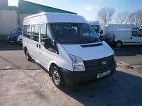Ford Transit T300 Shuttle 9 Seat Minibus 125ps DIESEL MANUAL WHITE (2012)