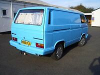 VW Camper Panel Van t25 1991 5 speed petrol taxed and MOT's full Devon camping interior