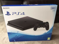 PLAYSTATION 4 SLIM 500GB SEALED OPEN TO OFFERS