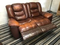 Two Tone Leather Recliner Two Seater Sofa very comfy