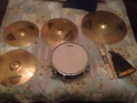 Sabian Xs20 Cymbals, Snare and hardware