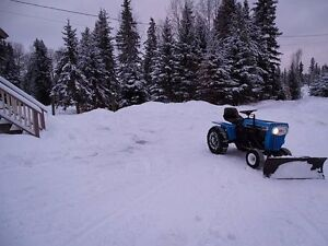 Tractor with blade, 3 point hitch PTO