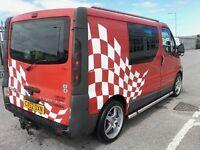 5 seater Vauxhall vivaro
