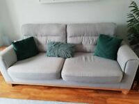 Sofology 3 seater Sofa Silver/Blue