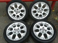 "GENUINE VW BBS 15"" INTERLAGOS ALLOYS 4X100PCD LUPO POLO GOLF PASSAT SEAT AROSA IBIZA"