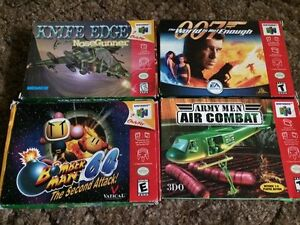 boxed / complete nintendo 64 n64 games cleaned tested n 64