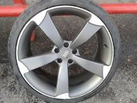 "1 X AUDI ROTOR STYLE 20"" ALLOY WHEEL & 255/35/20 TYRE. 5X112PCD"