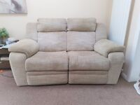 A pair of electric 2 seater recliner sofas £150 ono