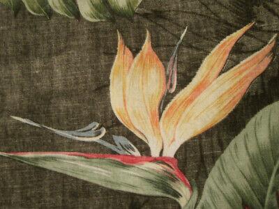 Bird of paradise monstera leaf floral reverse print Hawaiian-made shirt size XS Bird Of Paradise Leaves