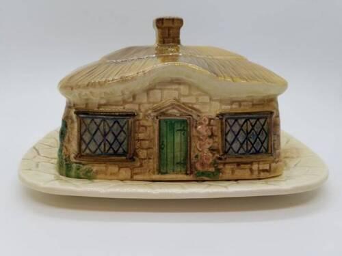 Vintage - SYLVAC - 2 Piece - Novelty Cottage Shape Butter Dish (4815)